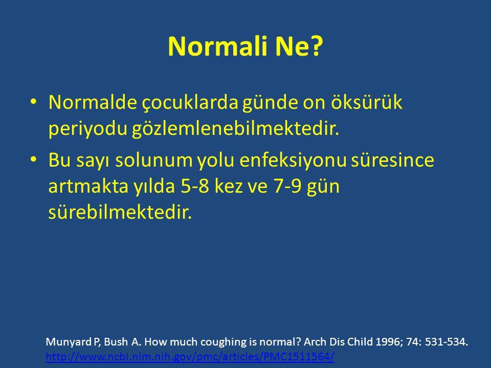 Normali Ne Normalde çocuklarda günde on öksürük periyodu gözlemlenebilmektedir.