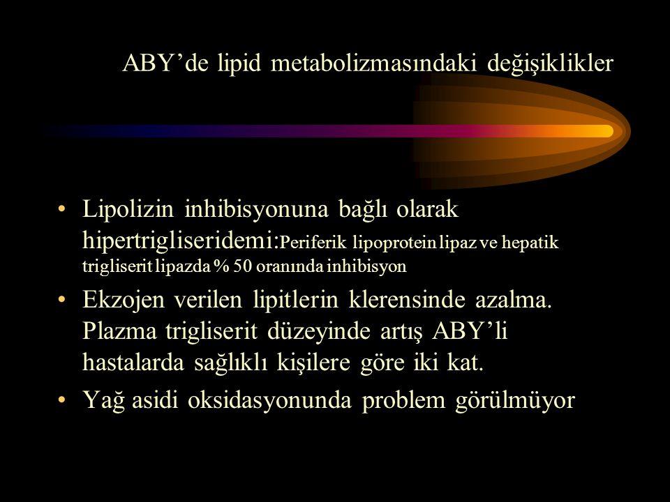 ABY'de lipid metabolizmasındaki değişiklikler