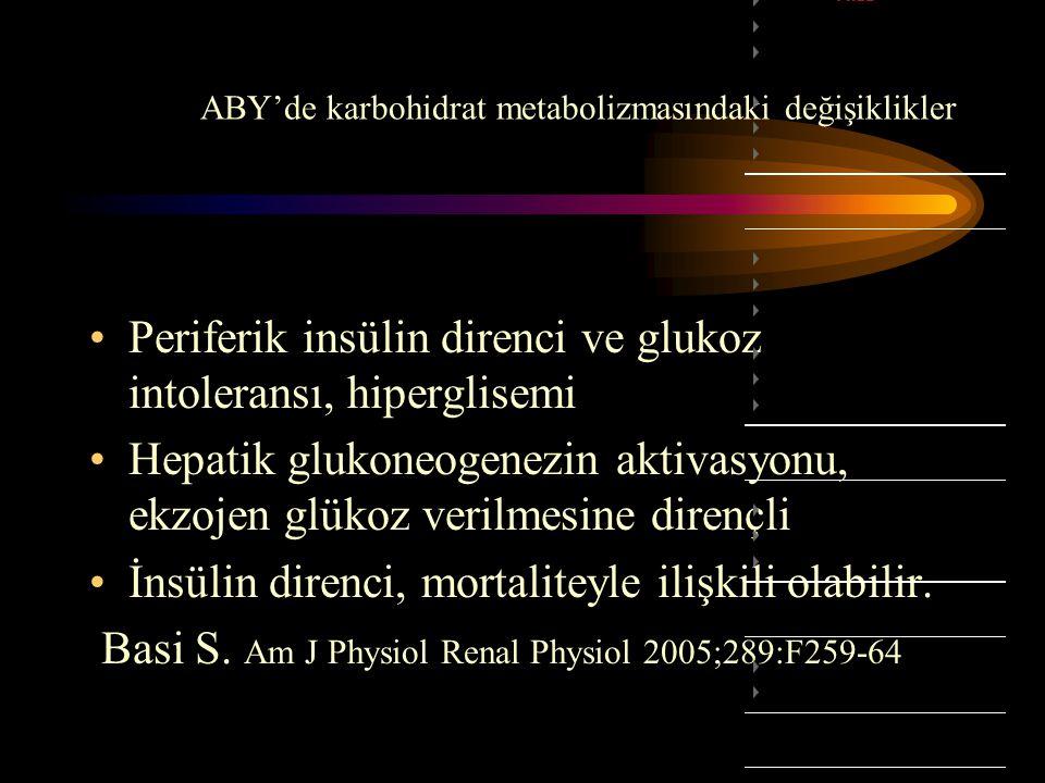 ABY'de karbohidrat metabolizmasındaki değişiklikler