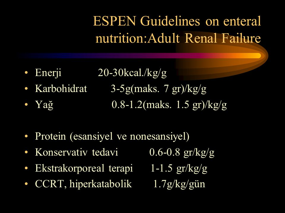 ESPEN Guidelines on enteral nutrition:Adult Renal Failure