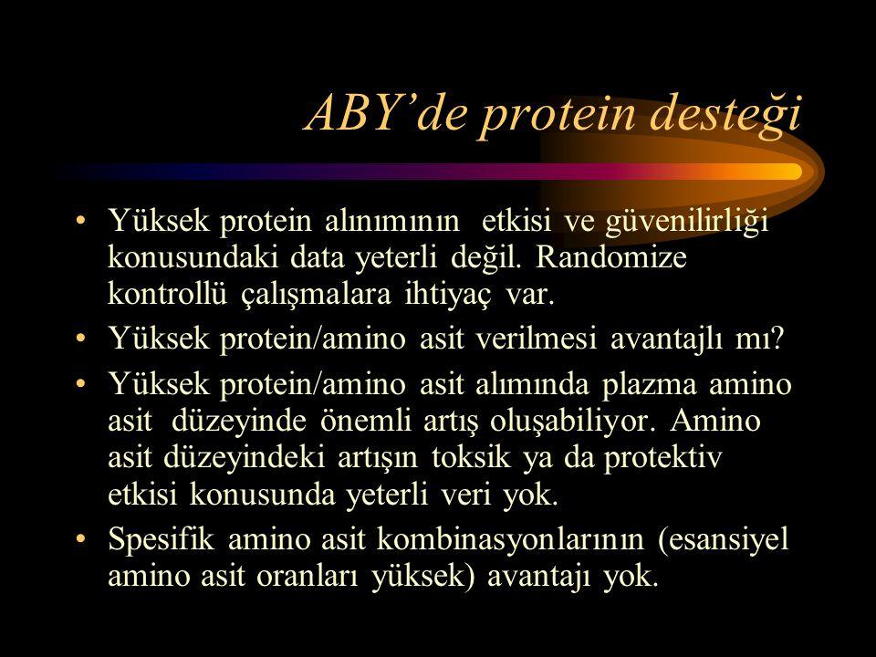 ABY'de protein desteği