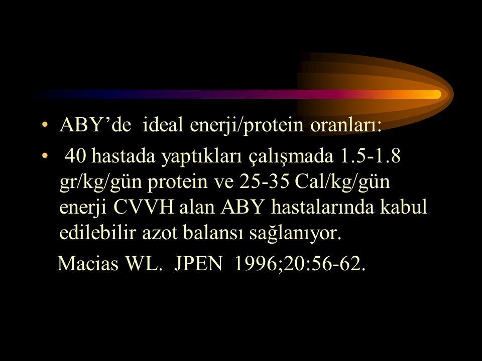 ABY'de ideal enerji/protein oranları: