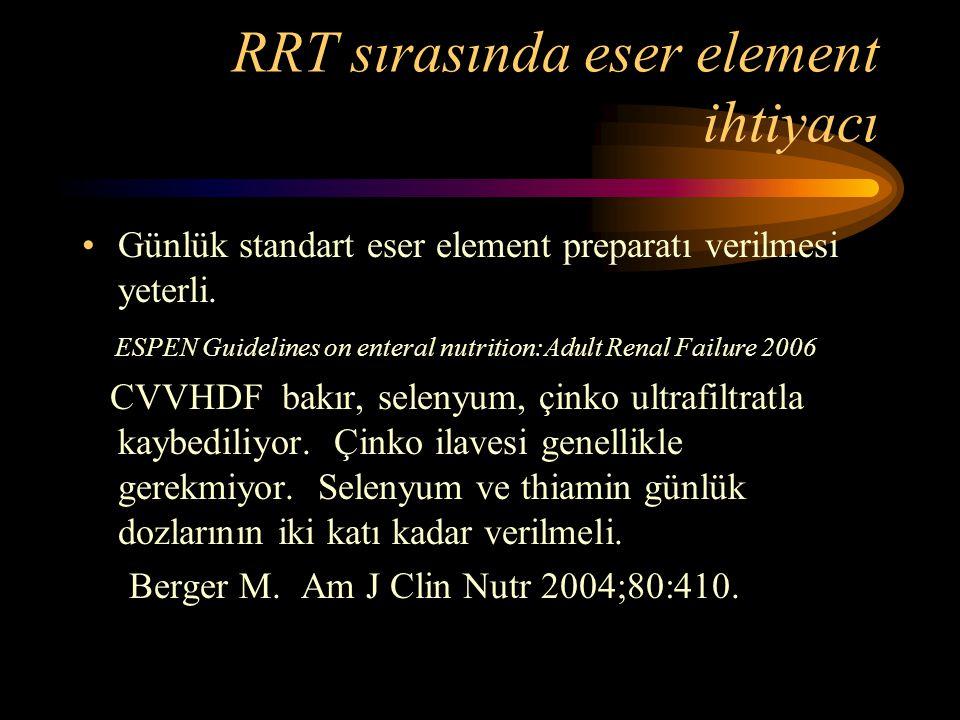 RRT sırasında eser element ihtiyacı