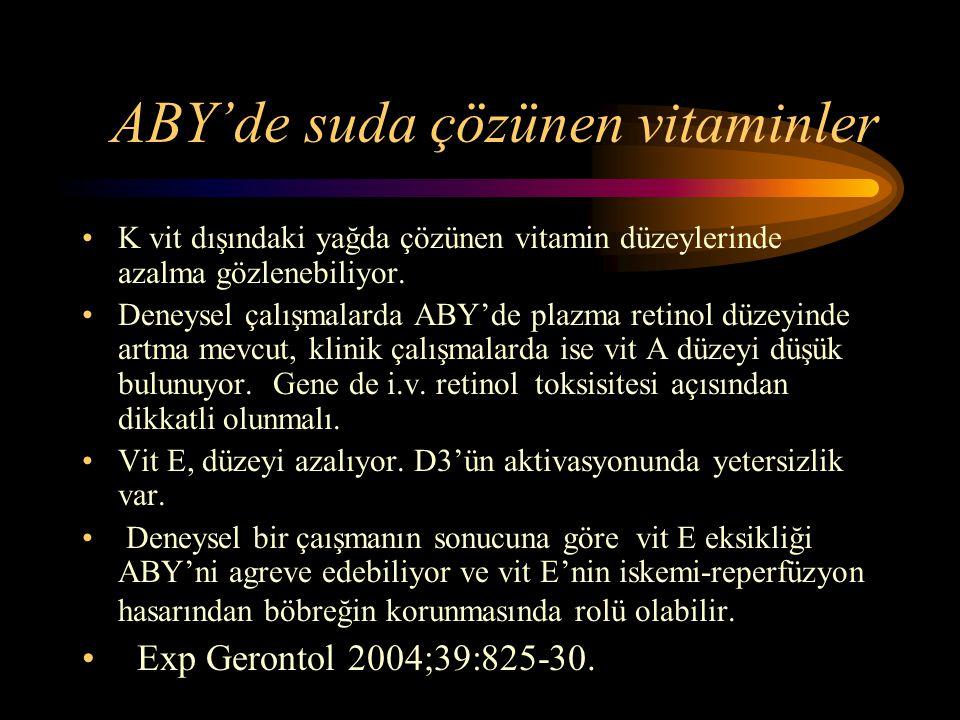 ABY'de suda çözünen vitaminler