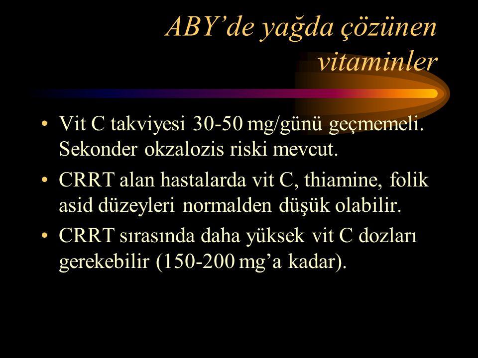 ABY'de yağda çözünen vitaminler