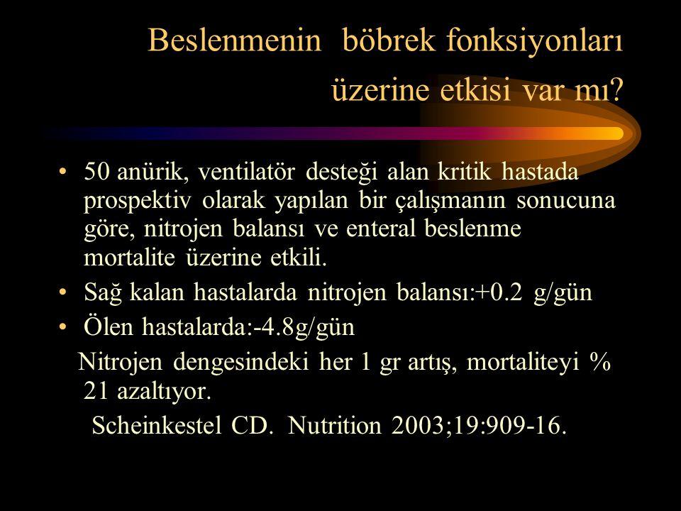 Beslenmenin böbrek fonksiyonları üzerine etkisi var mı