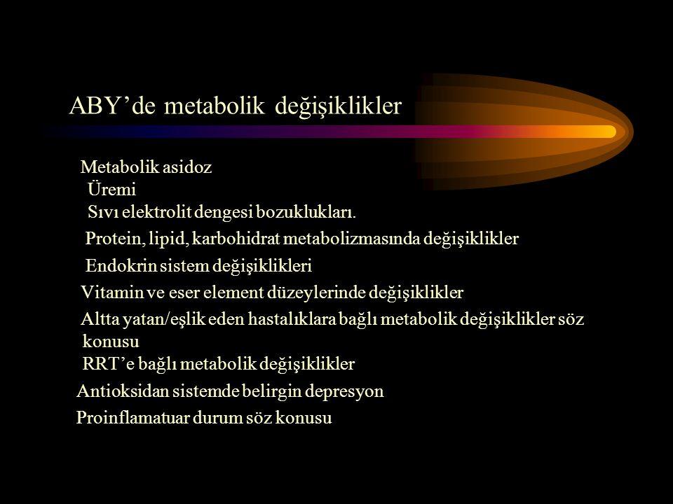 ABY'de metabolik değişiklikler