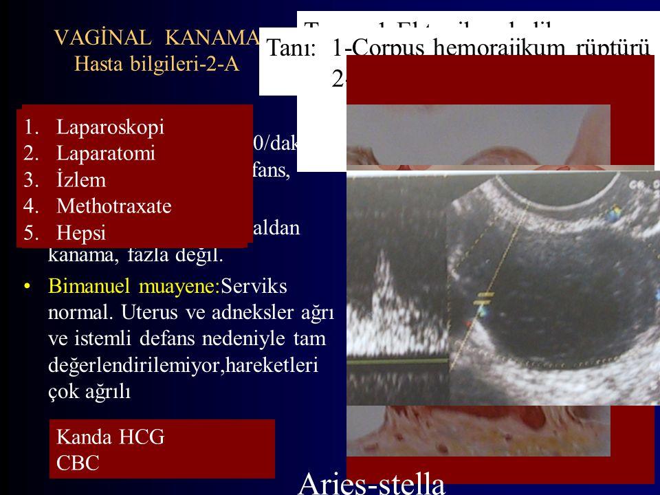 VAGİNAL KANAMA Hasta bilgileri-2-A