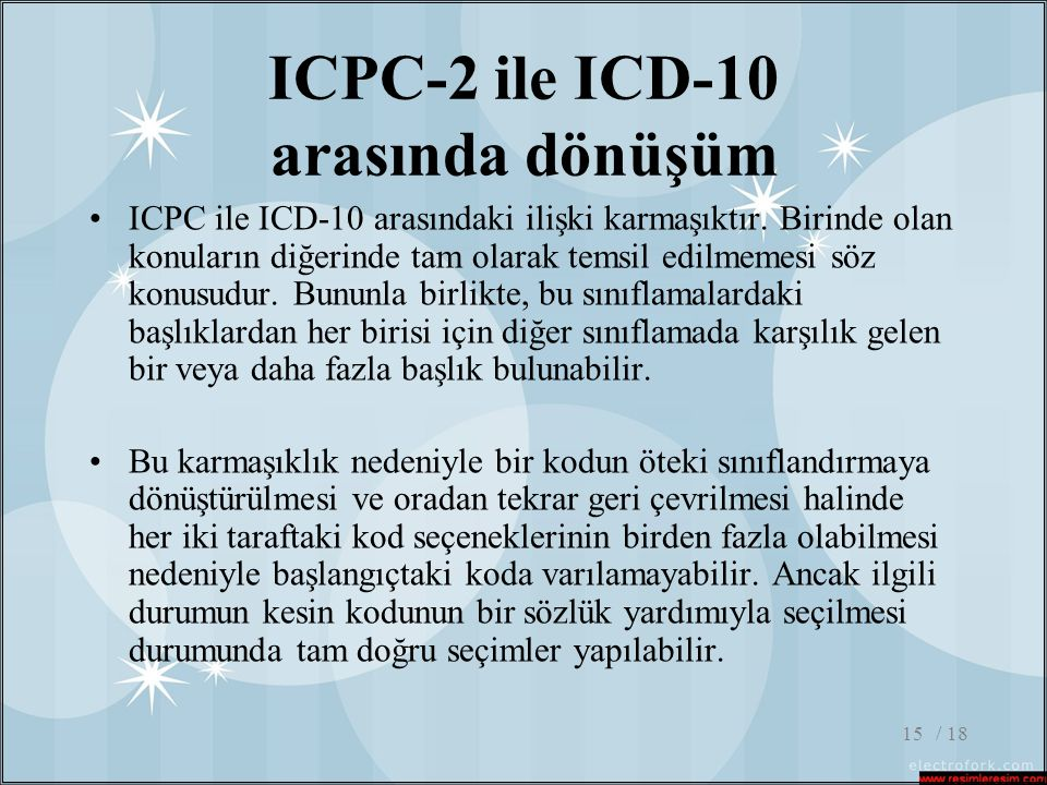ICPC-2 ile ICD-10 arasında dönüşüm