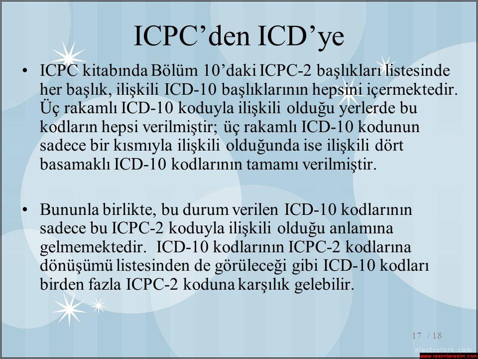 ICPC'den ICD'ye