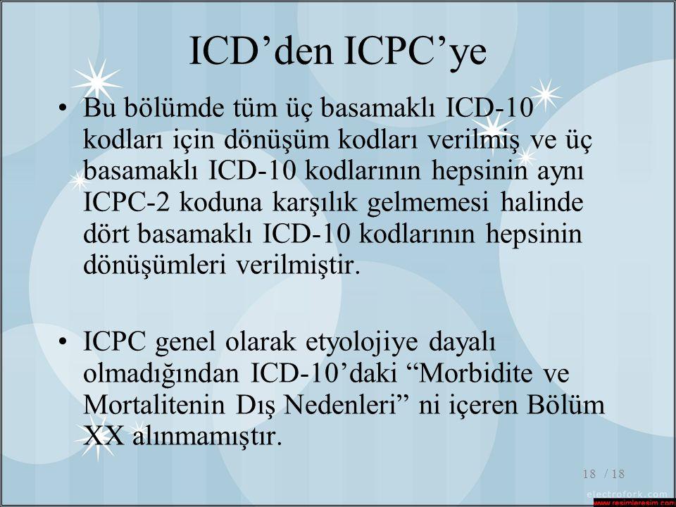 ICD'den ICPC'ye