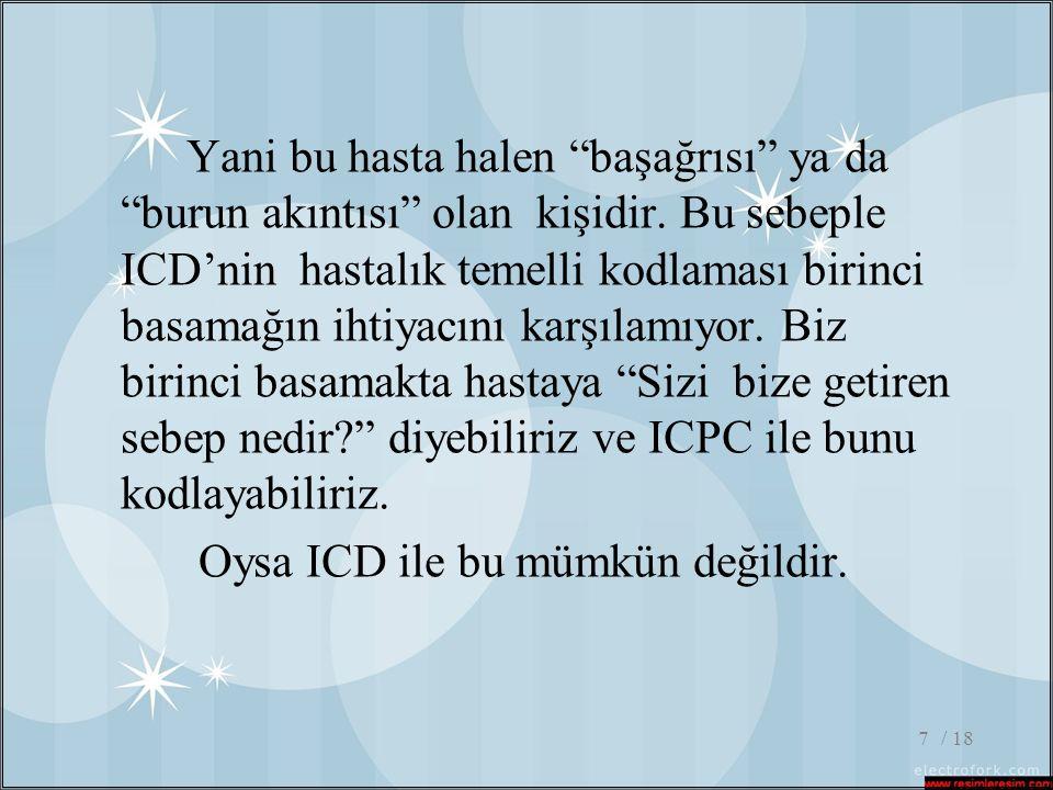 Oysa ICD ile bu mümkün değildir.