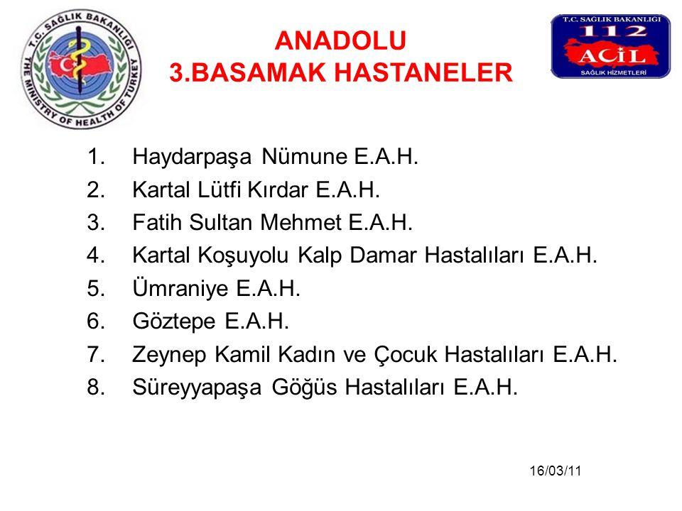 ANADOLU 3.BASAMAK HASTANELER