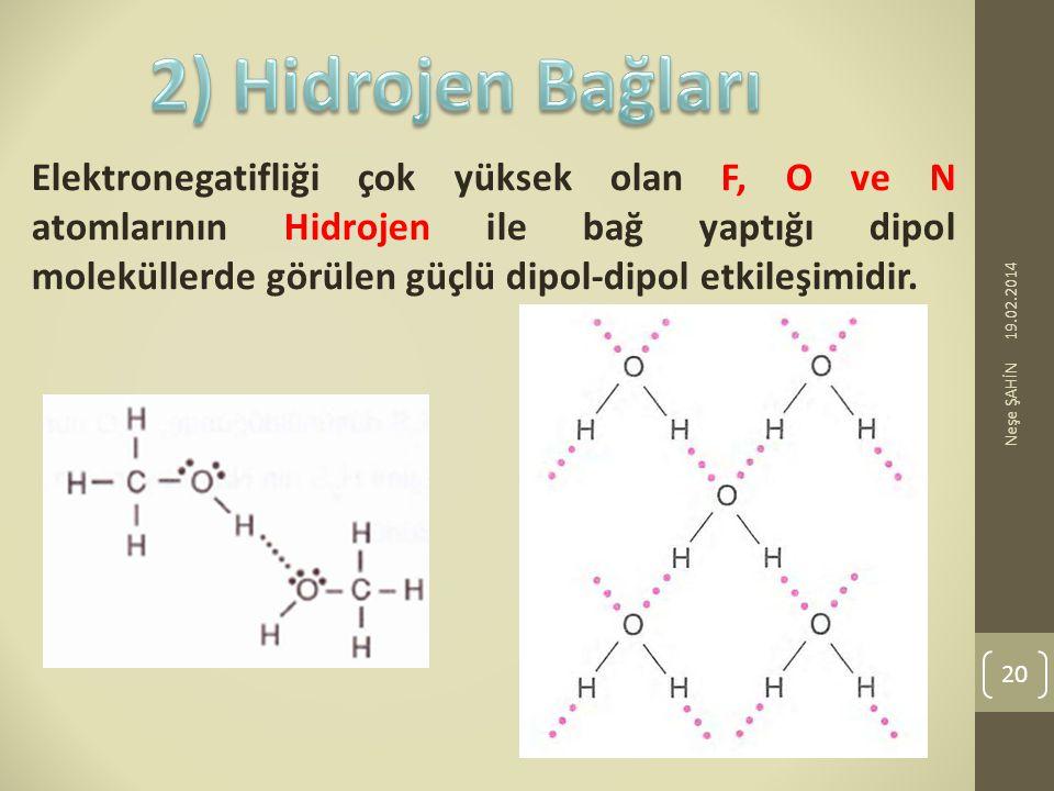 2) Hidrojen Bağları