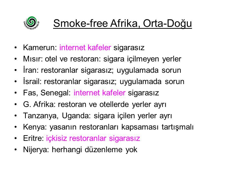 Smoke-free Afrika, Orta-Doğu