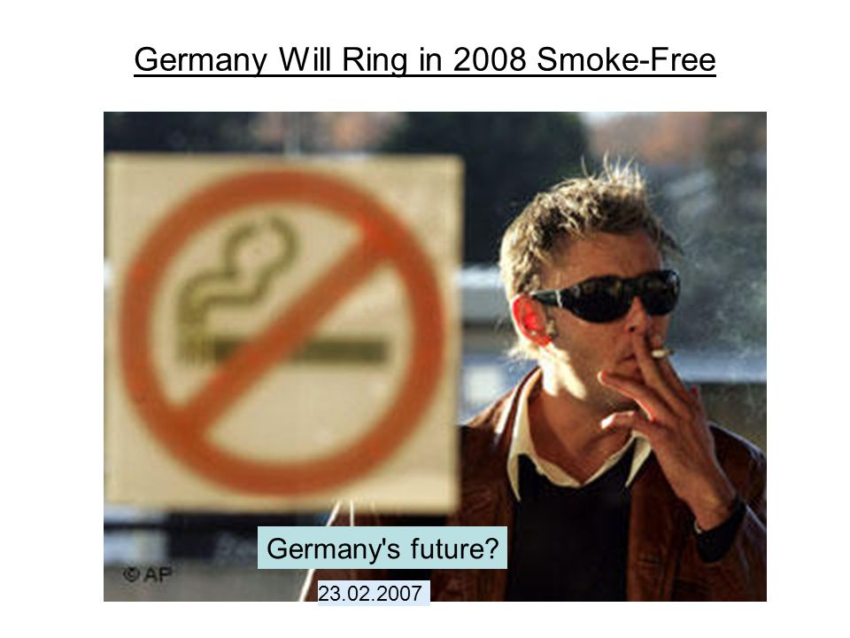 Germany Will Ring in 2008 Smoke-Free