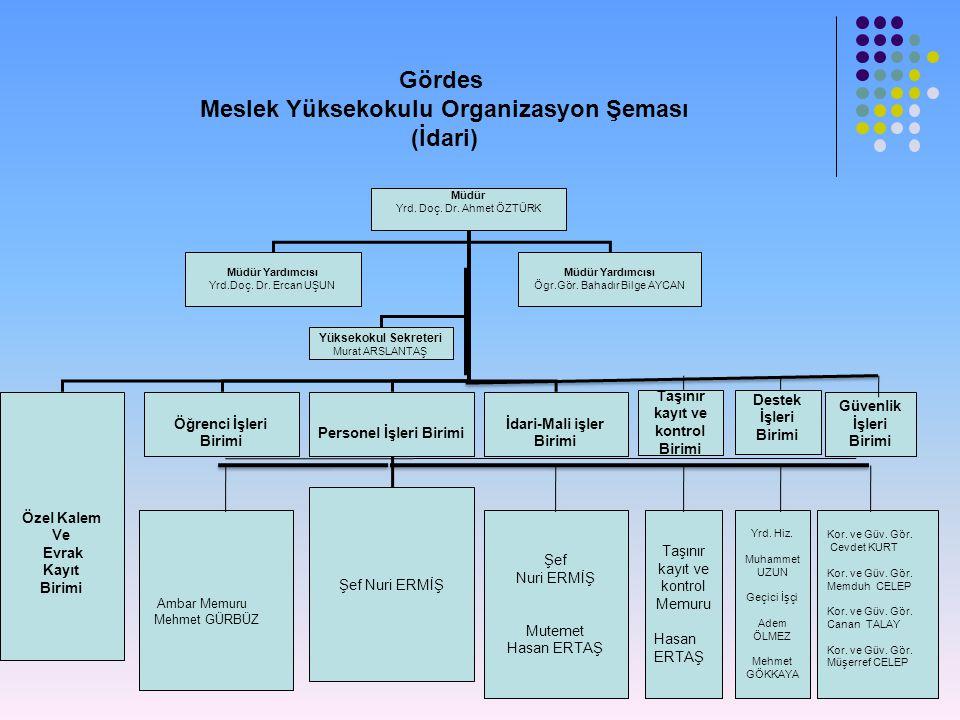 Meslek Yüksekokulu Organizasyon Şeması