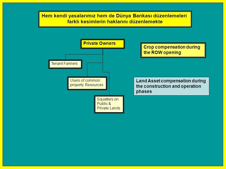 Hem kendi yasalarımız hem de Dünya Bankası düzenlemeleri