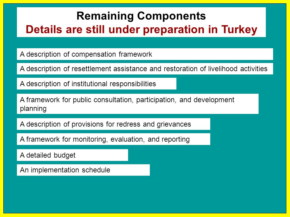 Details are still under preparation in Turkey