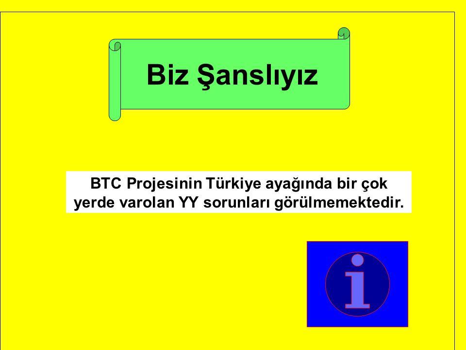 Biz Şanslıyız BTC Projesinin Türkiye ayağında bir çok yerde varolan YY sorunları görülmemektedir.
