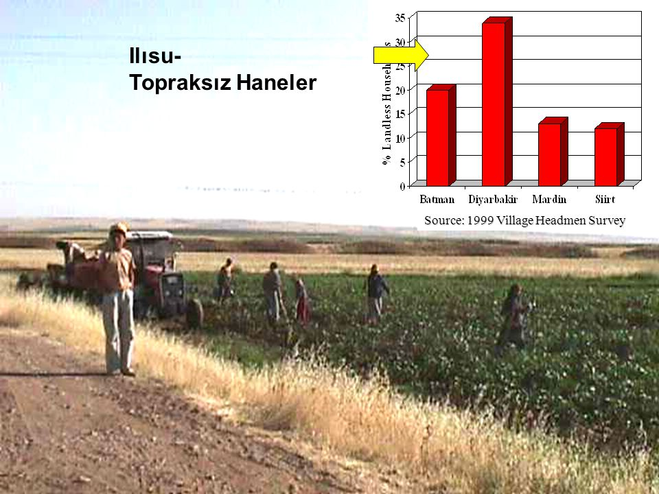 Ilısu- Topraksız Haneler Source: 1999 Village Headmen Survey