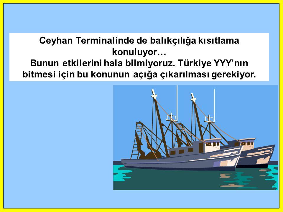 Ceyhan Terminalinde de balıkçılığa kısıtlama konuluyor…