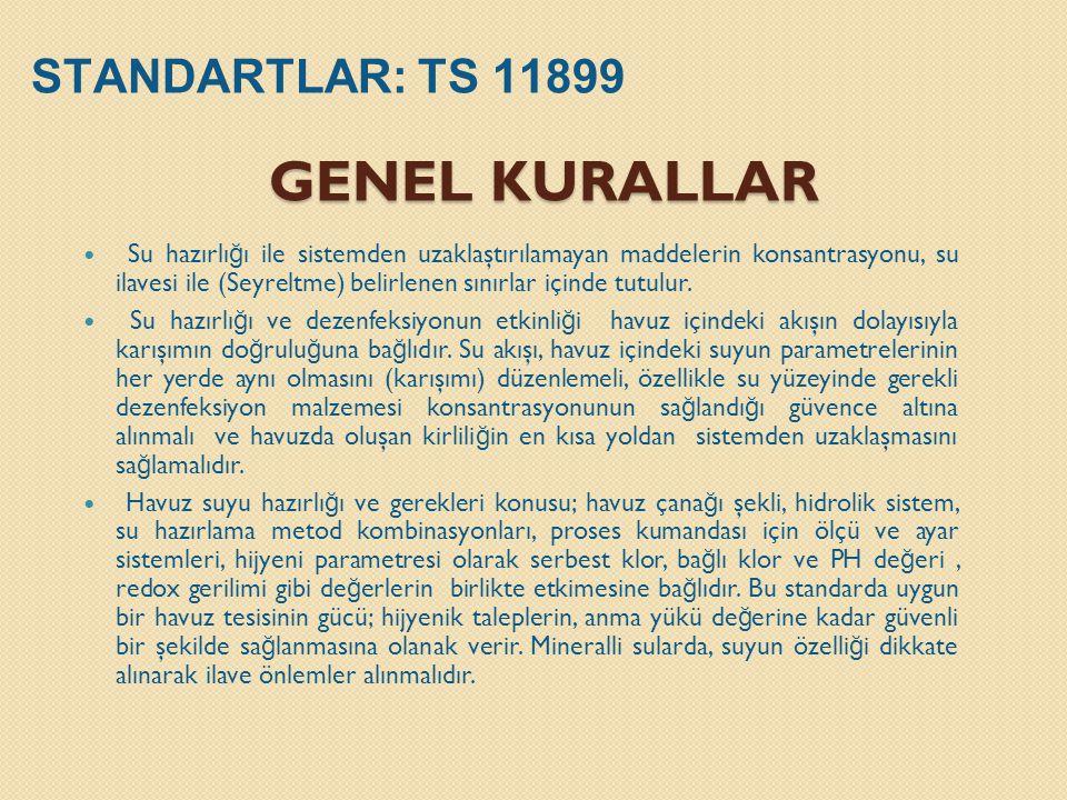 GENEL KURALLAR STANDARTLAR: TS 11899