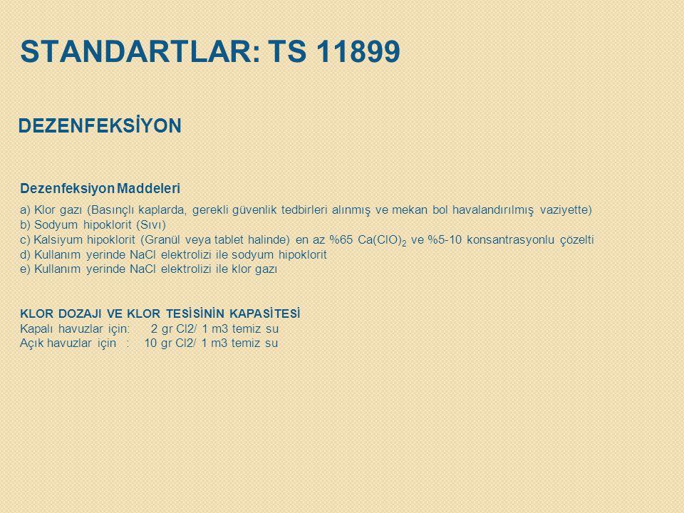 STANDARTLAR: TS 11899 DEZENFEKSİYON Dezenfeksiyon Maddeleri
