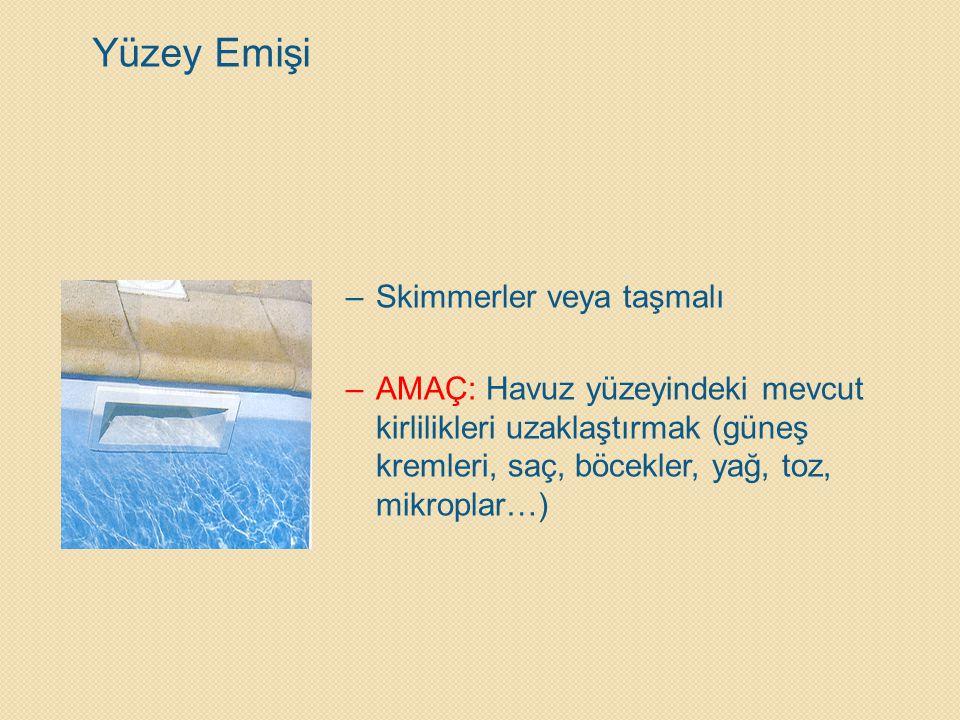 Yüzey Emişi Skimmerler veya taşmalı