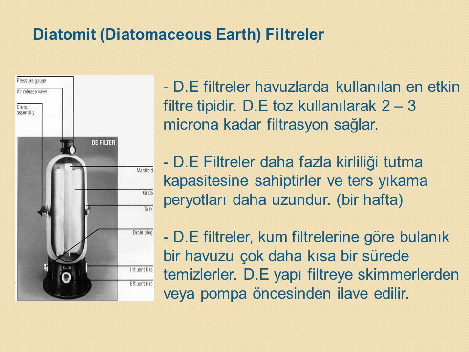 Diatomit (Diatomaceous Earth) Filtreler