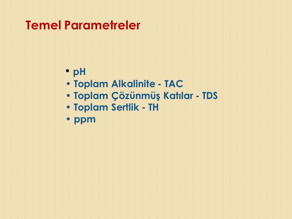 Temel Parametreler pH Toplam Alkalinite - TAC