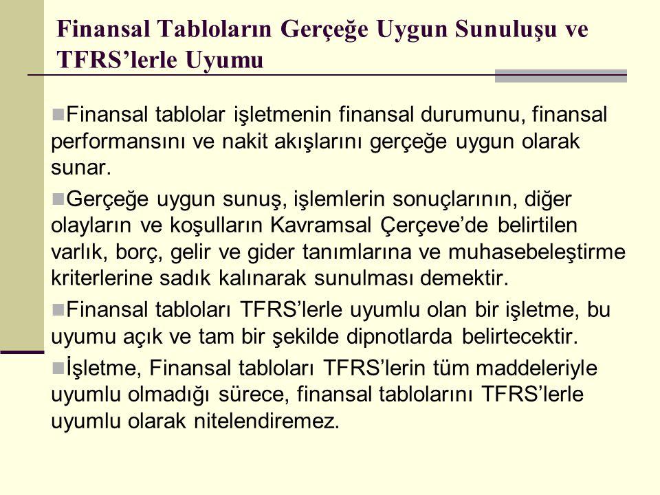 Finansal Tabloların Gerçeğe Uygun Sunuluşu ve TFRS'lerle Uyumu