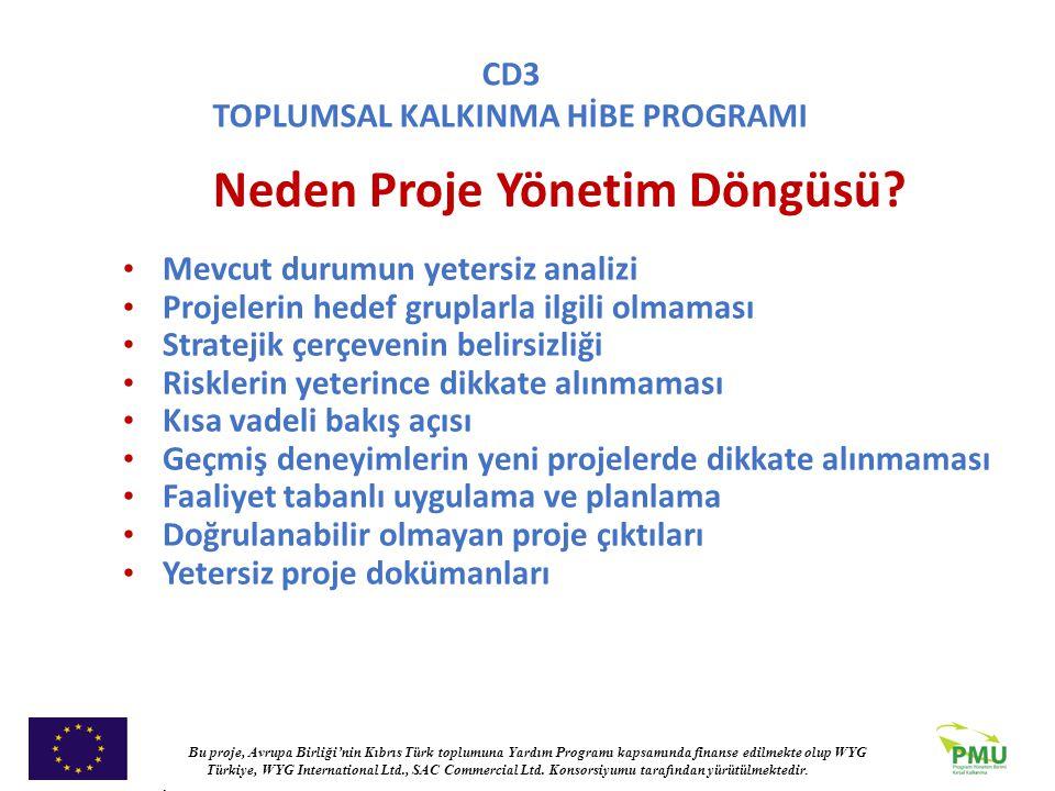 Neden Proje Yönetim Döngüsü
