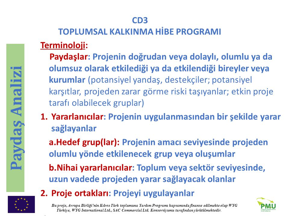 Paydaş Analizi Terminoloji: