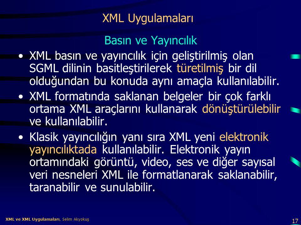 XML Uygulamaları Basın ve Yayıncılık