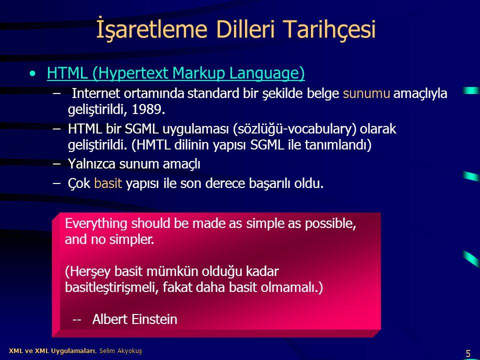 İşaretleme Dilleri Tarihçesi