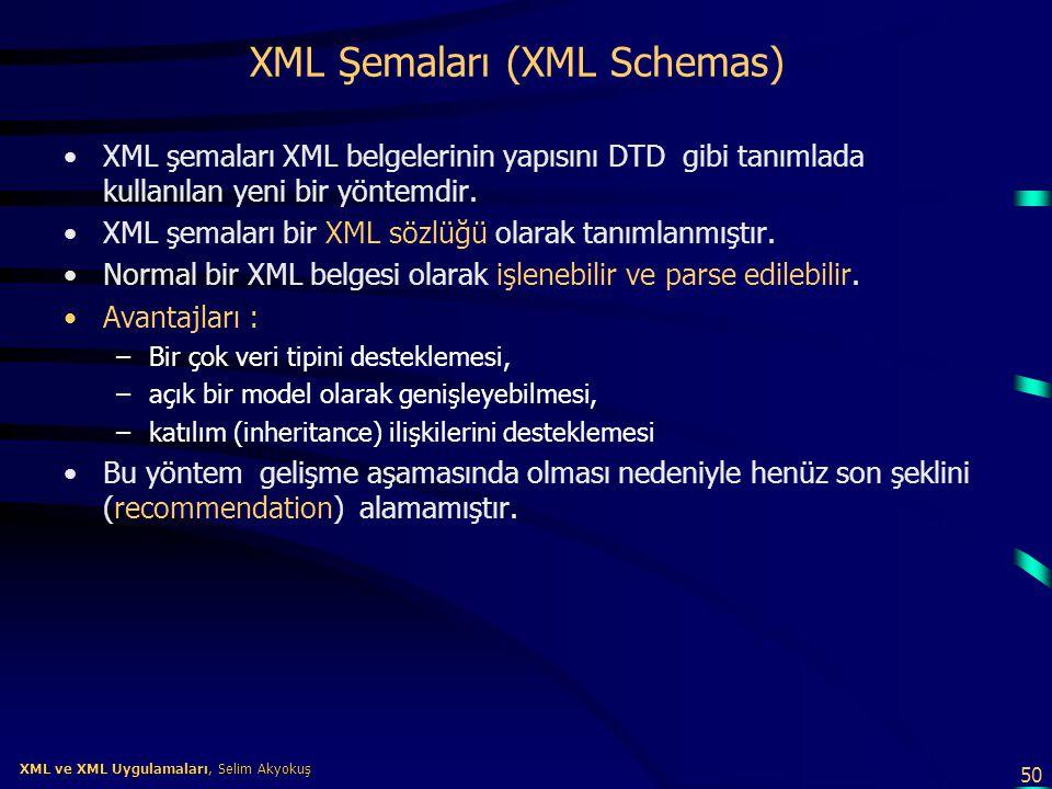 XML Şemaları (XML Schemas)