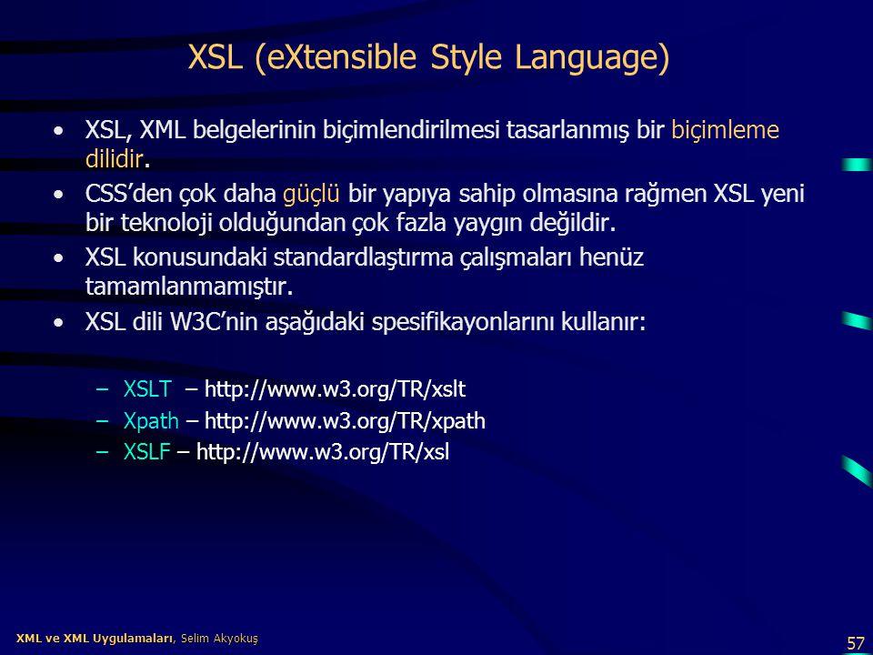 XSL (eXtensible Style Language)