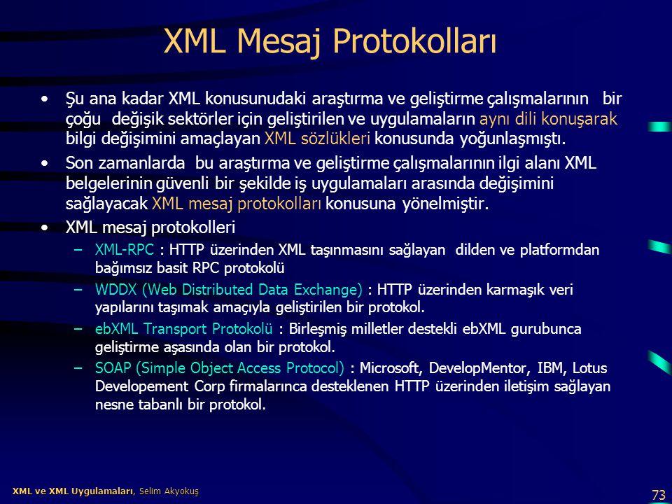 XML Mesaj Protokolları