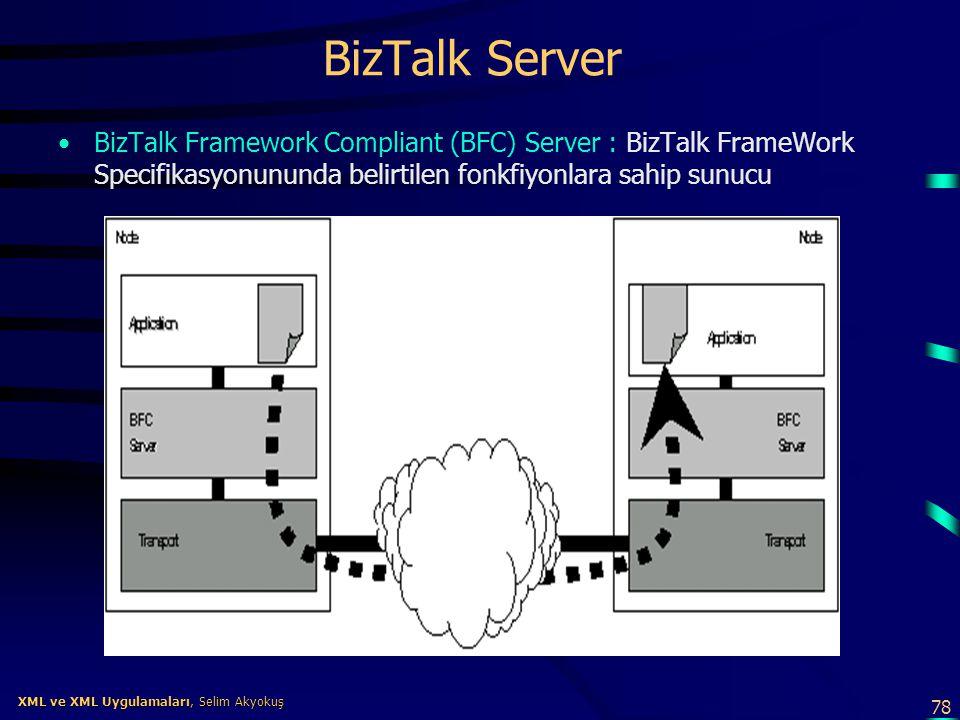 BizTalk Server BizTalk Framework Compliant (BFC) Server : BizTalk FrameWork Specifikasyonununda belirtilen fonkfiyonlara sahip sunucu.