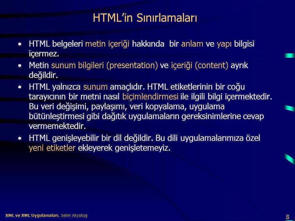 HTML'in Sınırlamaları