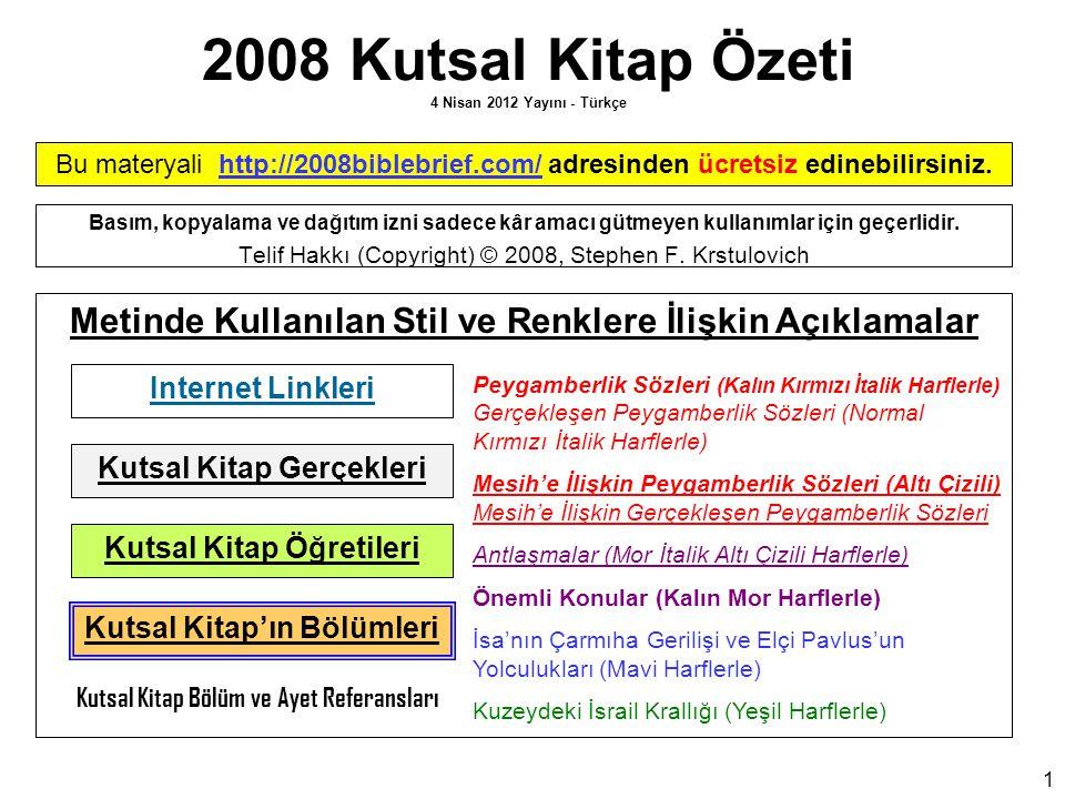 2008 Kutsal Kitap Özeti 4 Nisan 2012 Yayını - Türkçe