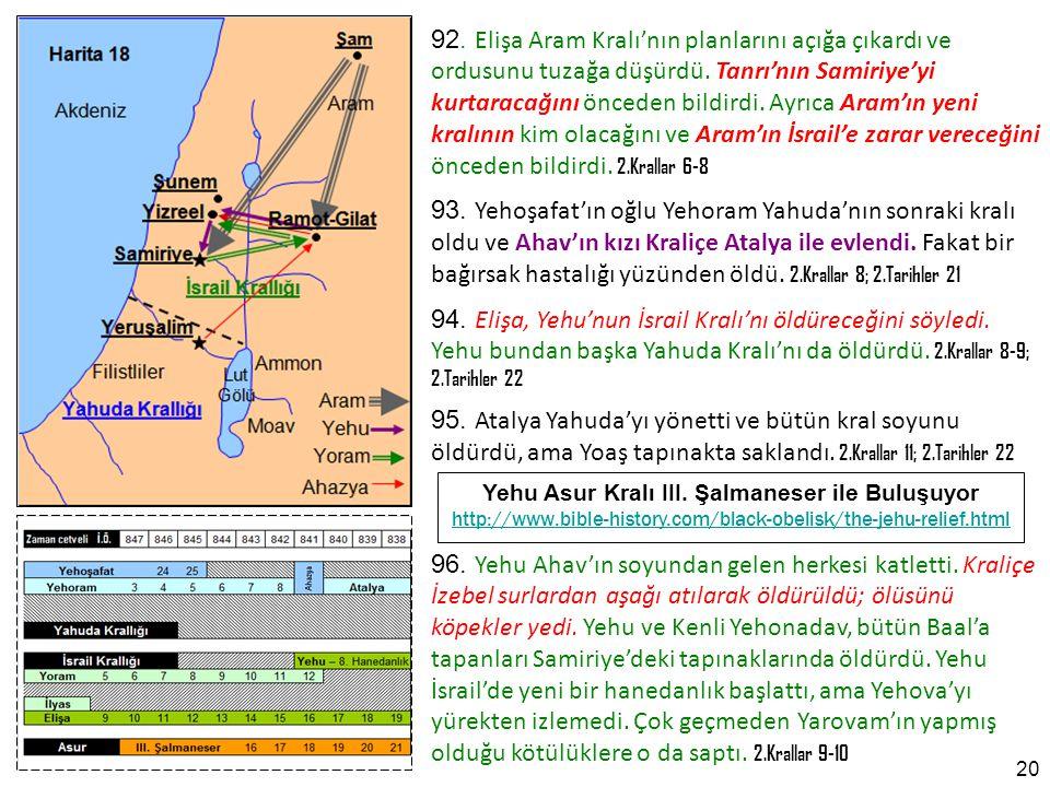 Yehu Asur Kralı III. Şalmaneser ile Buluşuyor