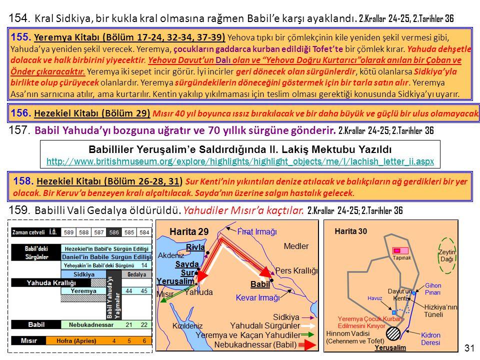 Babilliler Yeruşalim'e Saldırdığında II. Lakiş Mektubu Yazıldı
