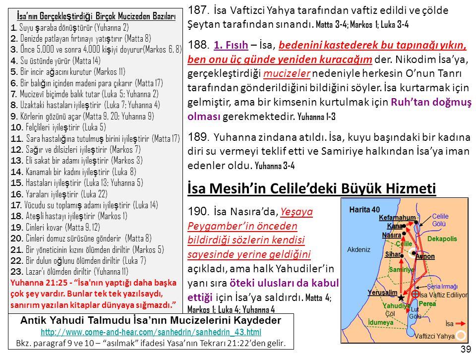 İsa Mesih'in Celile'deki Büyük Hizmeti