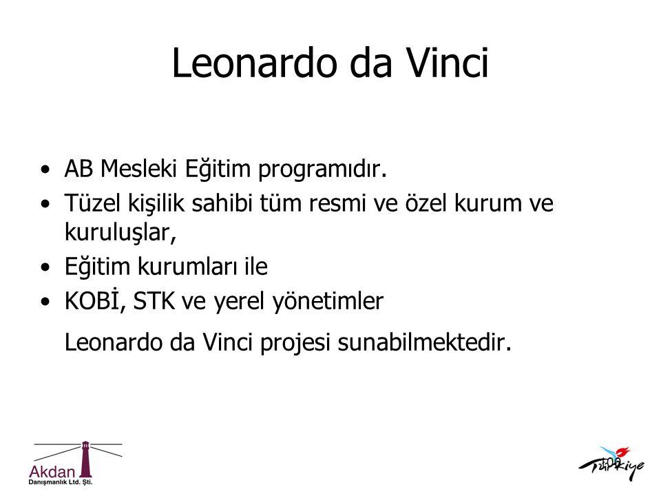 Leonardo da Vinci AB Mesleki Eğitim programıdır.