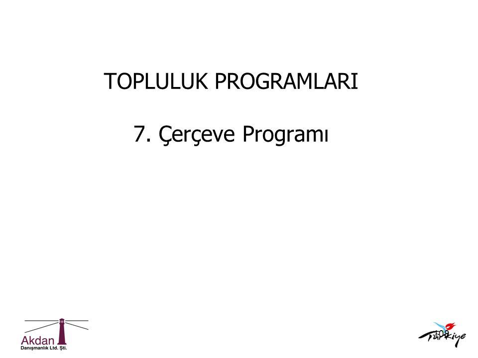 TOPLULUK PROGRAMLARI 7. Çerçeve Programı