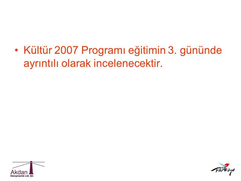 Kültür 2007 Programı eğitimin 3