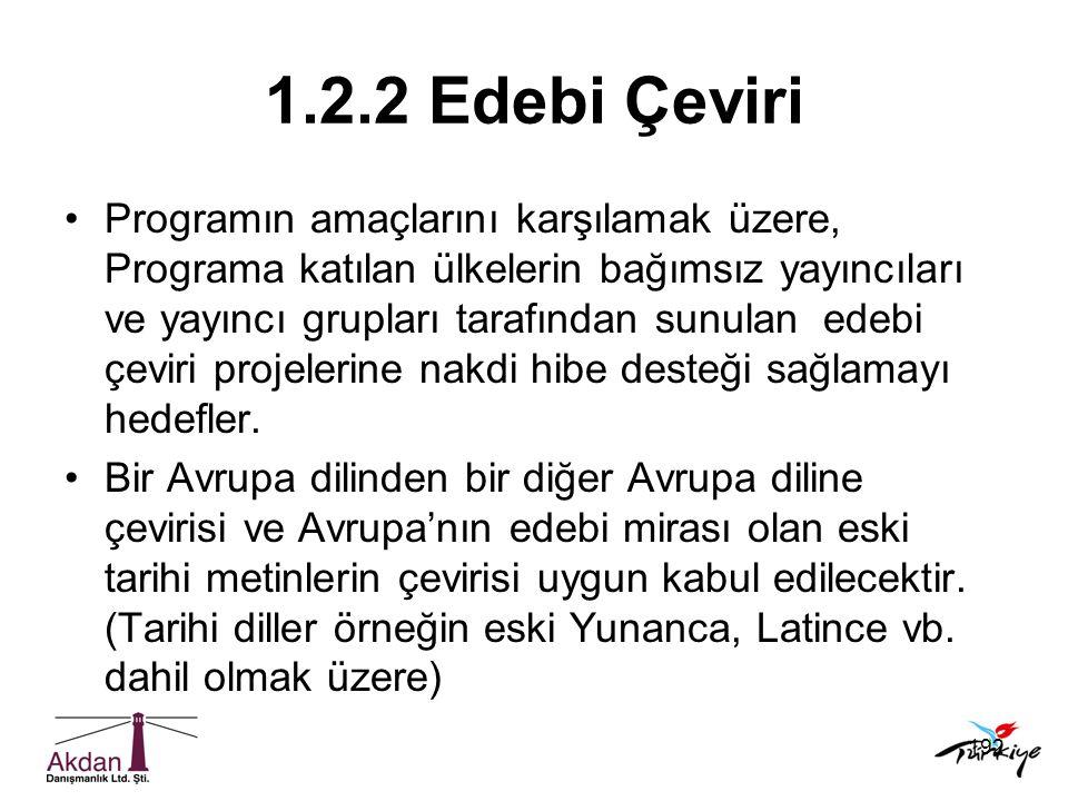 1.2.2 Edebi Çeviri