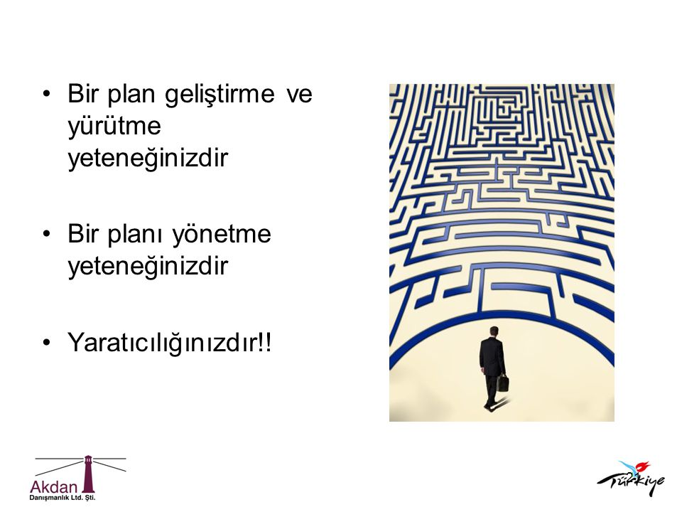 Bir plan geliştirme ve yürütme yeteneğinizdir